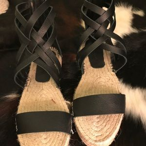 Zara Black Strappy Sandals espadrilles inspired